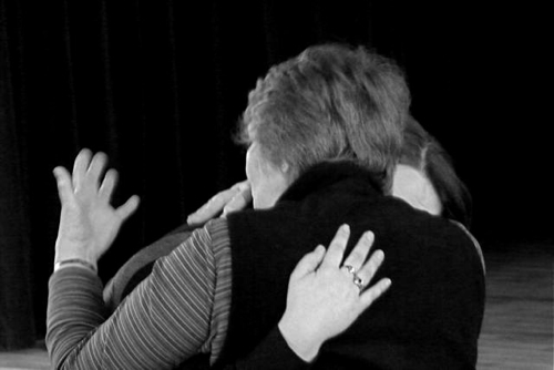 Hugged