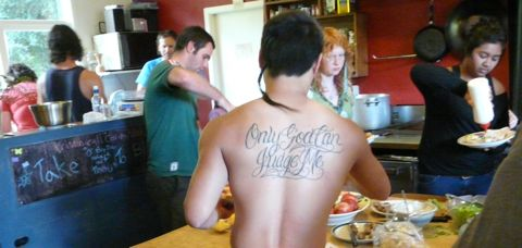 Praxis course lunch only god can judge me tattoo