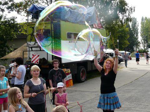 Abi at truck bubbles