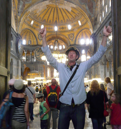 Andrew at hagia sophia