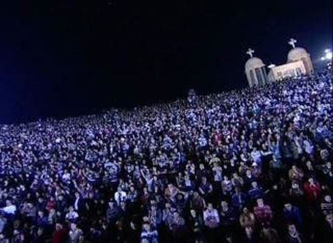 11.11.11 prayer meeting for 71000 christians in cairo