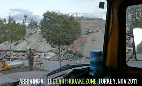 Earthquake zone arriving philanthropy