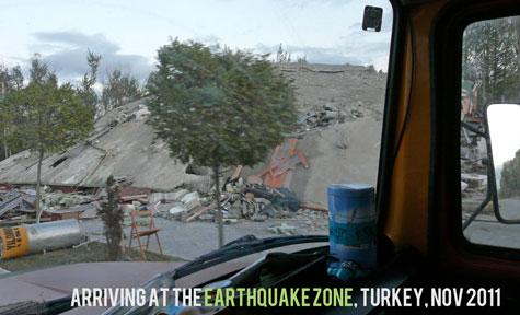 Earthquake zone arriving philanthropy