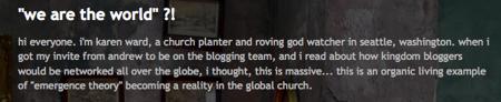 karen ward blogging
