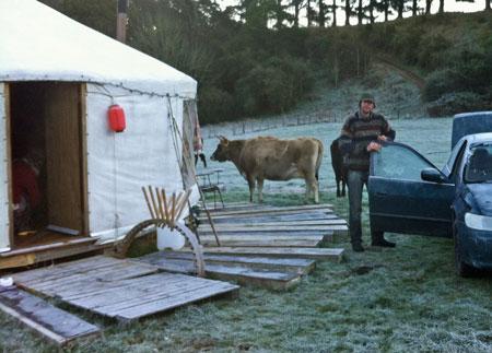 Yurt on farm