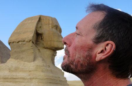 Andrew sphinx cairo egypt
