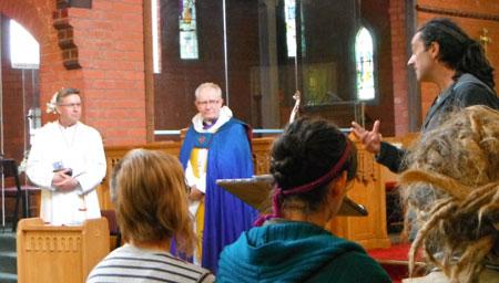 Justin archbishop david and bishop tom