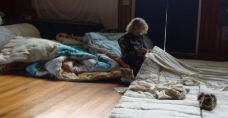 Debbie yurt insulation ceiling