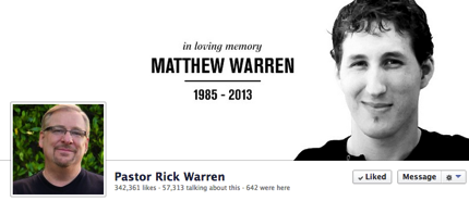 Rick warren matthew warren fund
