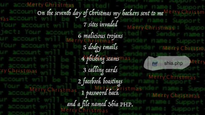 Christmas card to my hackers 1 seventh day of christmas